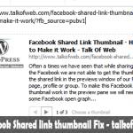 Facebook Shared link thumbnail