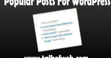 Popular Posts For WordPress