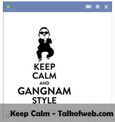 Keep Calm and Gangnum Style Facebook Smiley