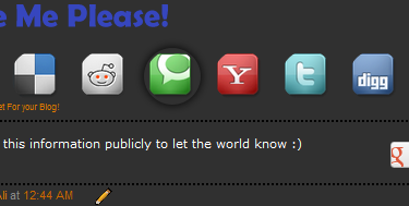 Social Media Share Buttons With Mouse hover