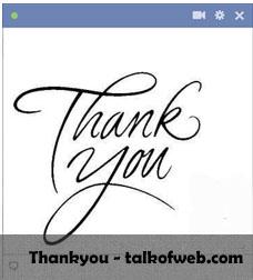 Thankyou Facebook Smiley