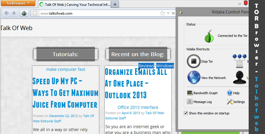Tor Browser Bundle Opening talkofweb