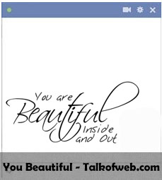 You are Beautiful Facebook Smiley