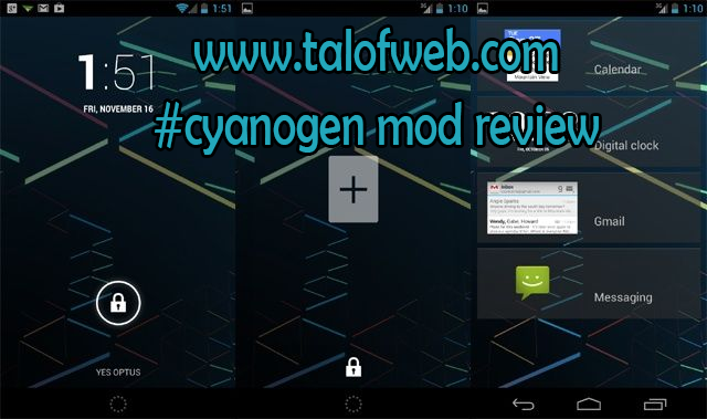 Cyanogen Mod Widgets at Lock Screen