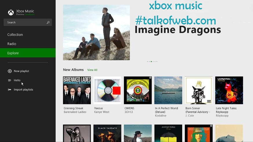xbox music in windows 8-1