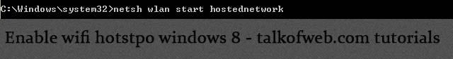 Enabling Wifi hotspot in windows 8