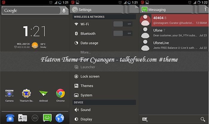 Flatron Theme For Cyanogenmod