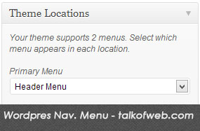 Wordpress custom menu for navigation