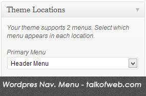Wordpress custom menu for navigation