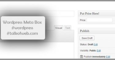Price Meta Box wordpress