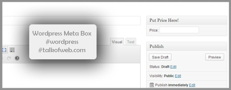 Price Meta Box wordpress