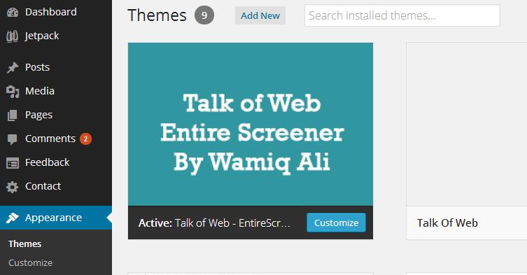 WordPress Theme Manager