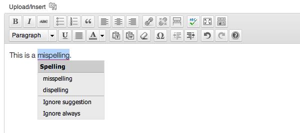 5- Spelling erros correction in wordpress