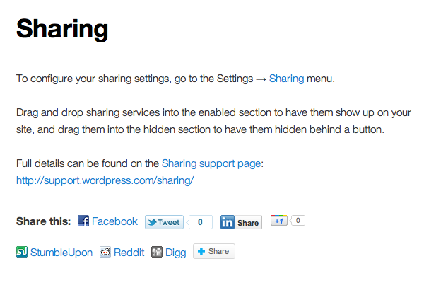 6- Sharing Buttons For WordPress
