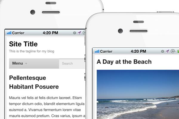 8- Mobile theme for Your WordPress blog
