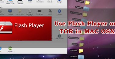 Use Flash player on Tor in Mac OSX