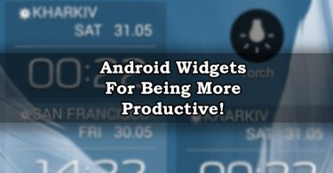 Productive Android Widgets