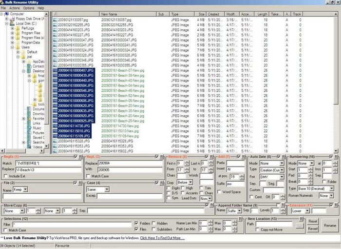 Bulk rename utility Windows