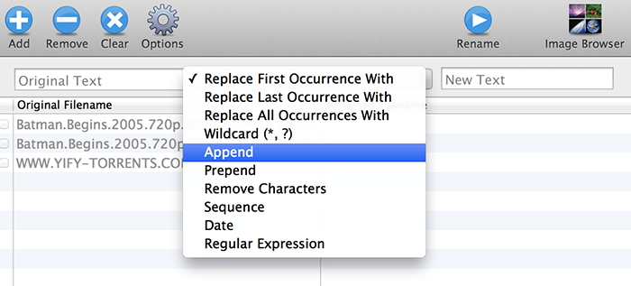 Name Changer For Mac Options - Bulk Rename