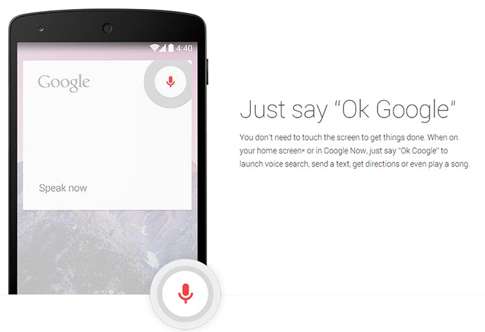 Okay Google Android Lollipop