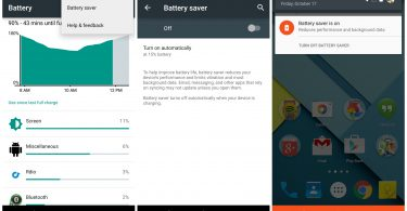 Android 5.0 Battery Saver