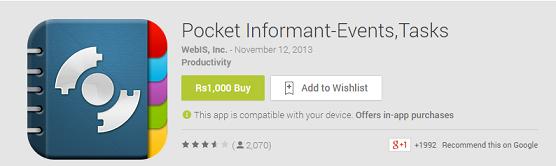best apps calendar - pocket informant