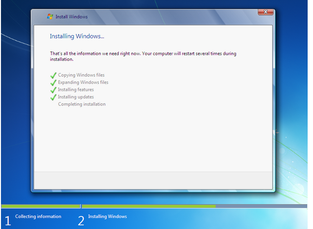 how to install windows 7 - 9