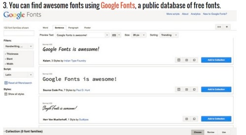 google tricks - fonts