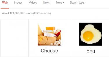 google tricks - food compare