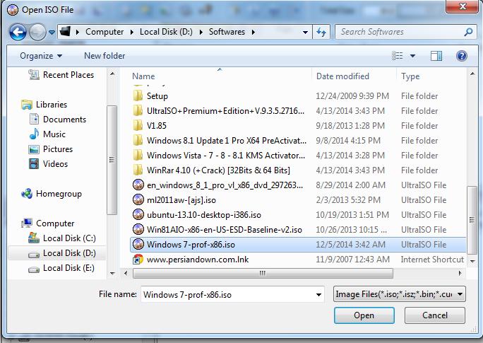 how to make a bootable USB - UltraISO 2