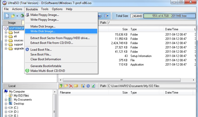 write iso to usb Create a bootable flash drive for installing windows you can now use the iso file to create a windows 7 the process of writing the iso file to the usb.