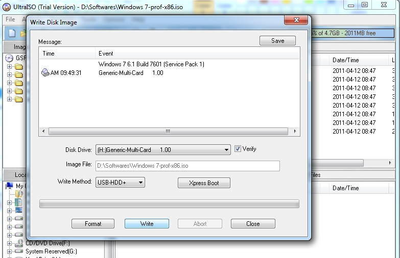 how to make a bootable USB - UltraISO 5