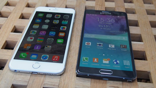 iphone 6 plus vs note 4 - screen