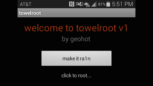 rooting android - towelroot