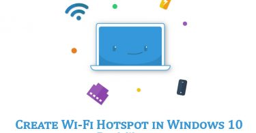 wifi hotspot in windows 10