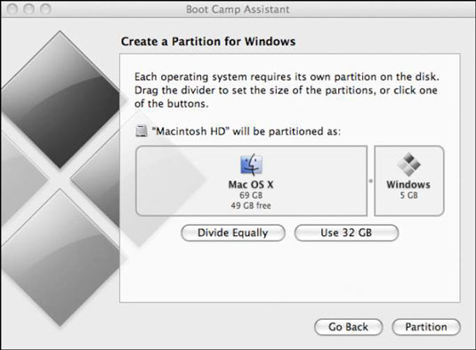 Partition Selection Bootcamp for Windows
