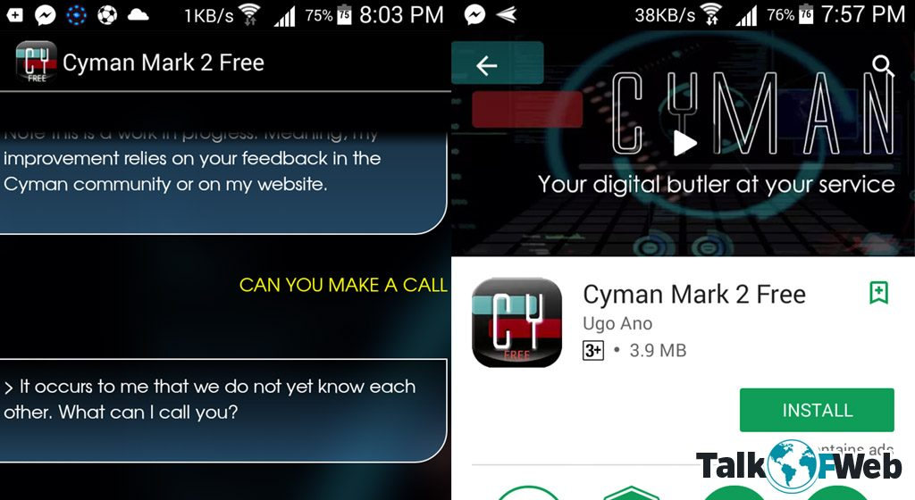 Cyman - Siri For Android