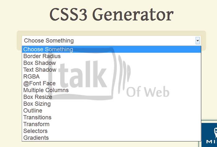 css3generator - Online CSS3 generator