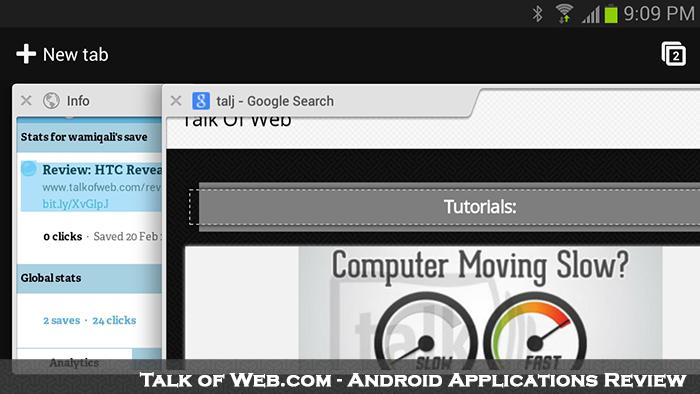 Google Chrom Multi Tabs - Android Talk Of Web