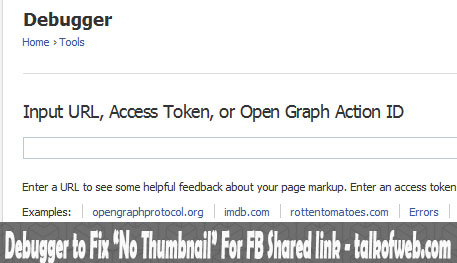 Debugger Tool For Facebook Link Share