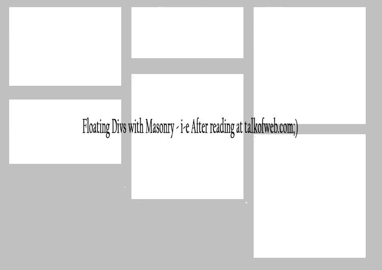 Floating Divs with masonary proper float left