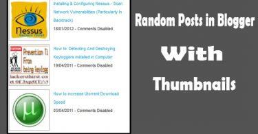 Random Posts in Blogger