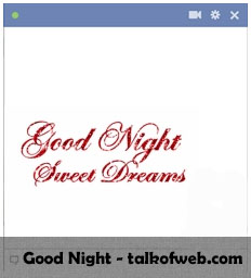 Good night Facebook Smiley