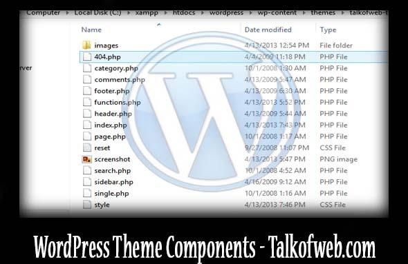 Wordpress theme components