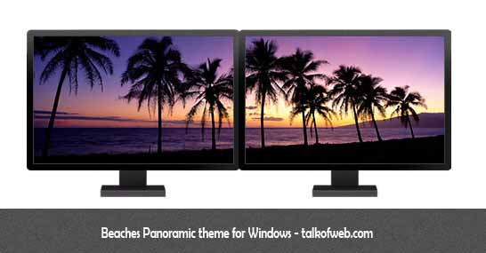 Beaches Panormic Theme Windows 8 - Sample