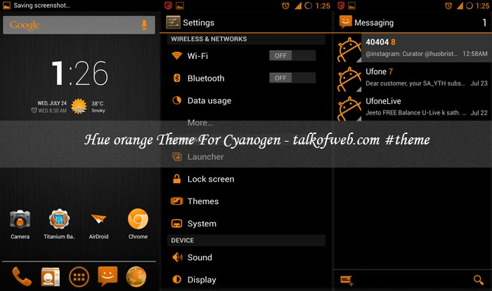 Hue orange Theme For Cyanogenmod