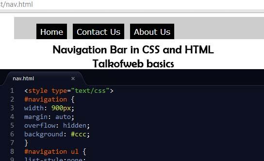 Creating minimal navigation bar using css and html for Css div top