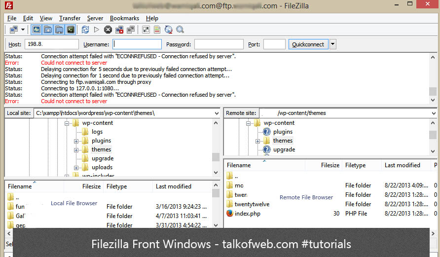 FileZilla Windows