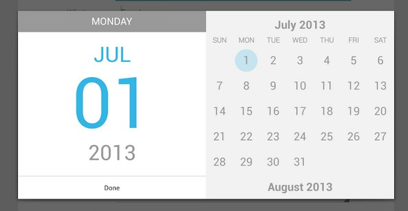Google Calendar Android Application