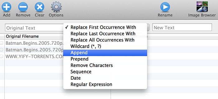 Name Changer For Mac Options - Bulk Rename